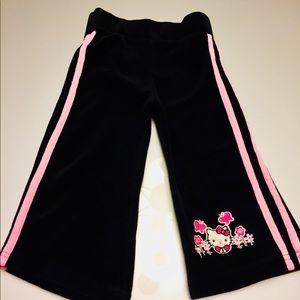 Hello Kitty | Black Velour Sweatpants | Girl's 2T